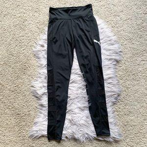 Puma Thick Spandex Mesh Stripe Workout Leggings M